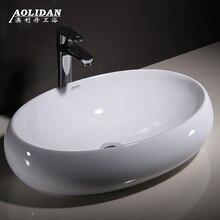 Душ для раковины ванной комнаты занавеска для душа Тайвань таз квадратная эллиптическая умывальник домашний керамический художественный Умывальник