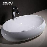 2017 Bathroom Sink Douche Bathroom Curtain Shower Taiwan Basin Square Elliptic Washbowl Washbasin Household Ceramic Art Wash