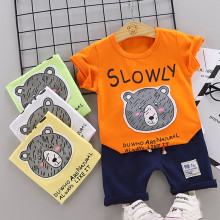 Toddler Boy Clothes Kids Baby Lovely Bear T shirt Tops Shorts Pants 2pcs Clothes Outfits Set 2pcs set lovely