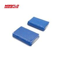 Marflo Barra de arcilla mágica para lavado de coches, barra fina de arcilla de grado alto medio para lavado de coches, 2 uds.