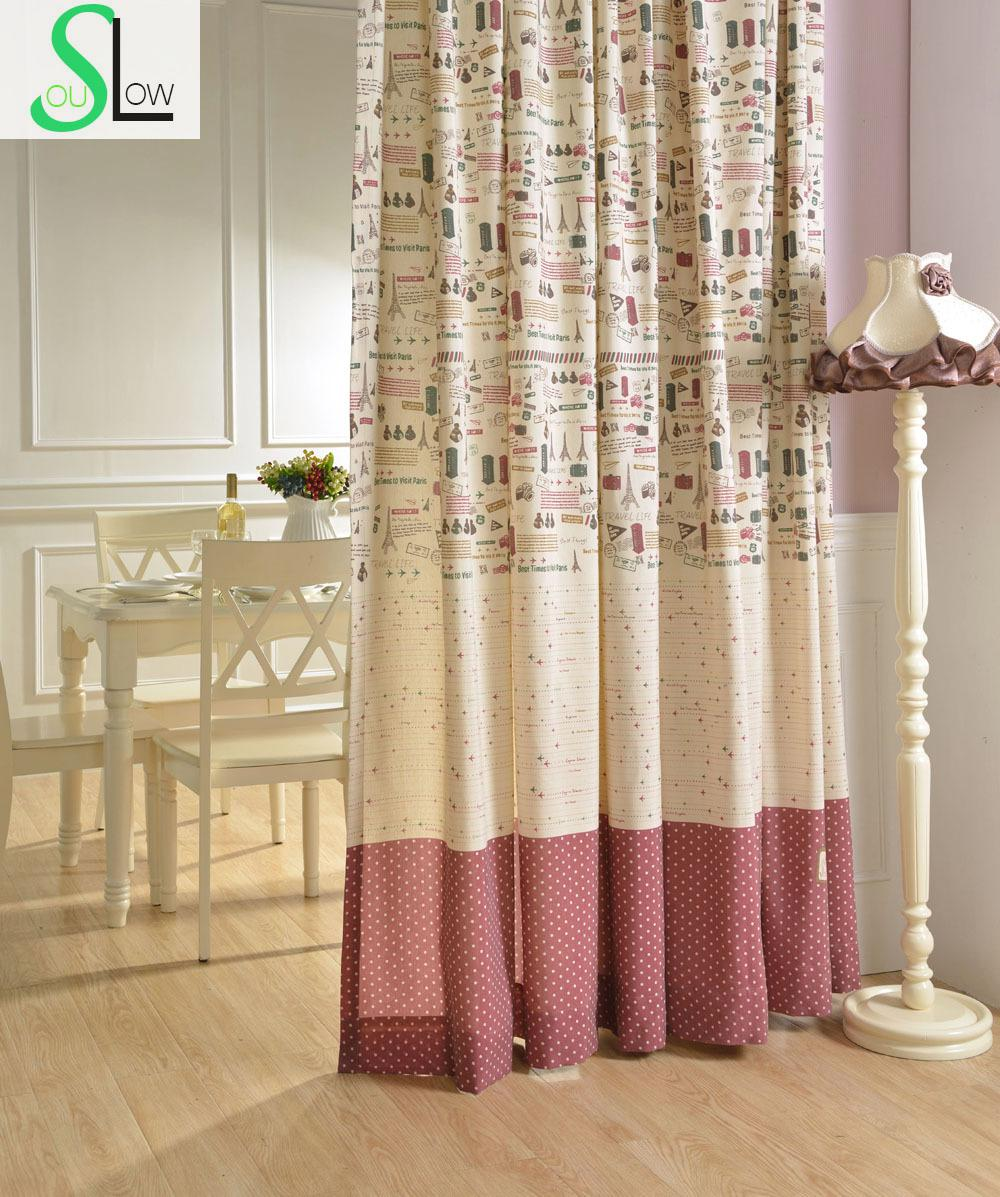 Printed Fabric Series Cartoon Curtain Decorative Curtains Cortinas Living Room Children Modern For Bedroom Gordijnen Kitchen In From Home Garden