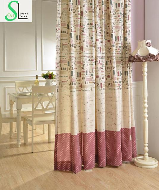 printed fabric series cartoon curtain decorative curtains cortinas living room children modern for bedroom gordijnen kitchen