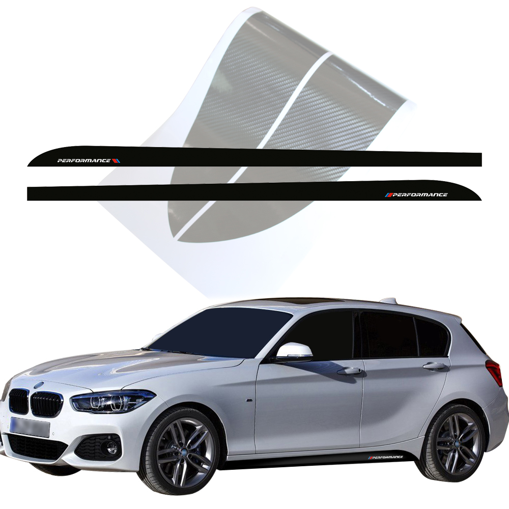 Side Stripes Skirt Stickers Decal New Style M Performance M Sport for BMW 1 Series F20 F21 118i 120i 125i 128i 135i Accessories