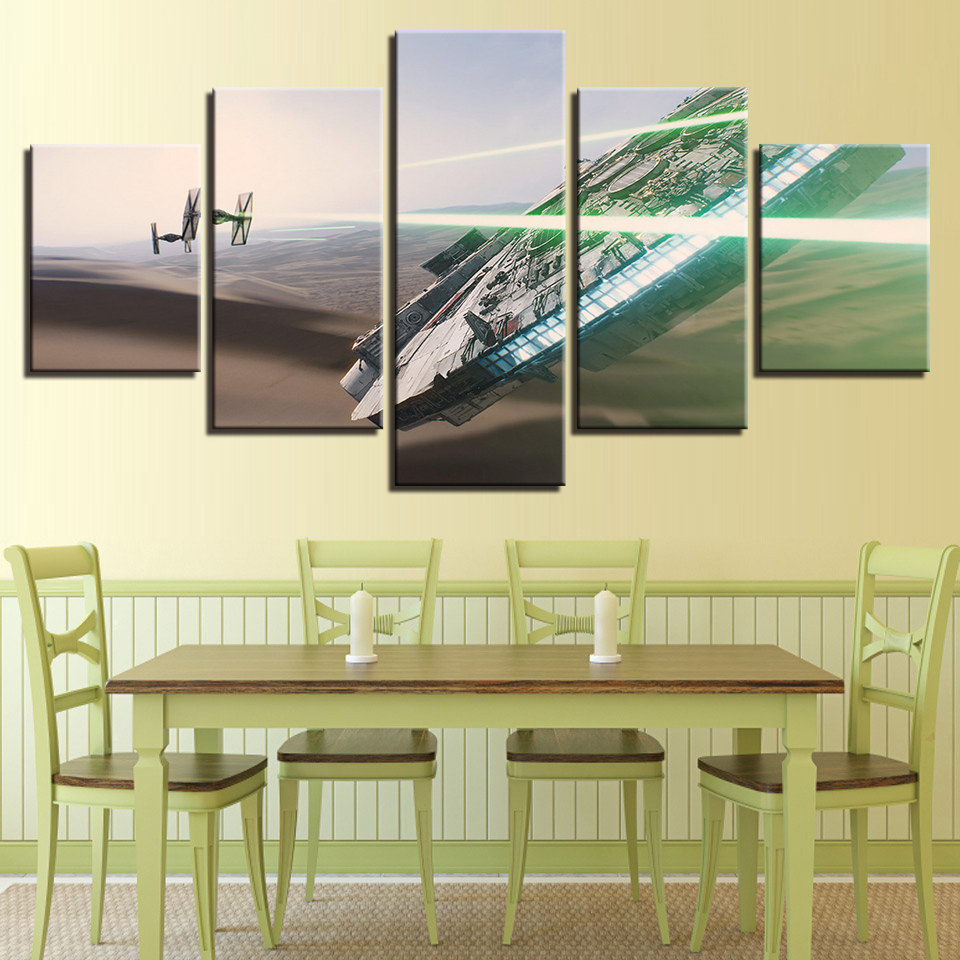 Modern Home Wall Art Decor Frame Pictures 5 Pieces Star Wars Movie ...