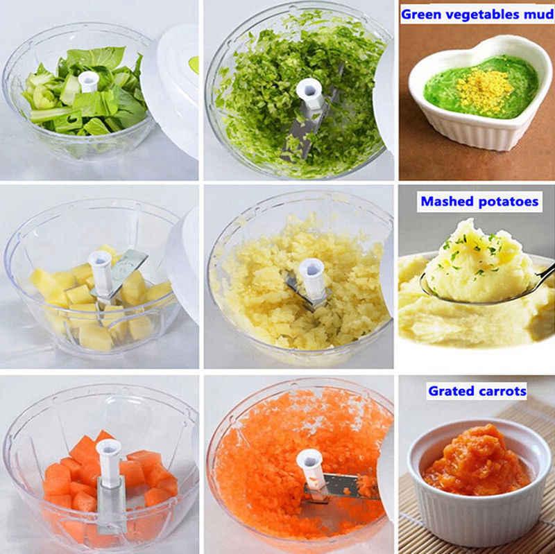 Multifunções de Alta Qualidade Novo Design de Alta Rápida Legumes Fruta Torção Chopper Alho Triturador Moedor de Carne Manual Mão