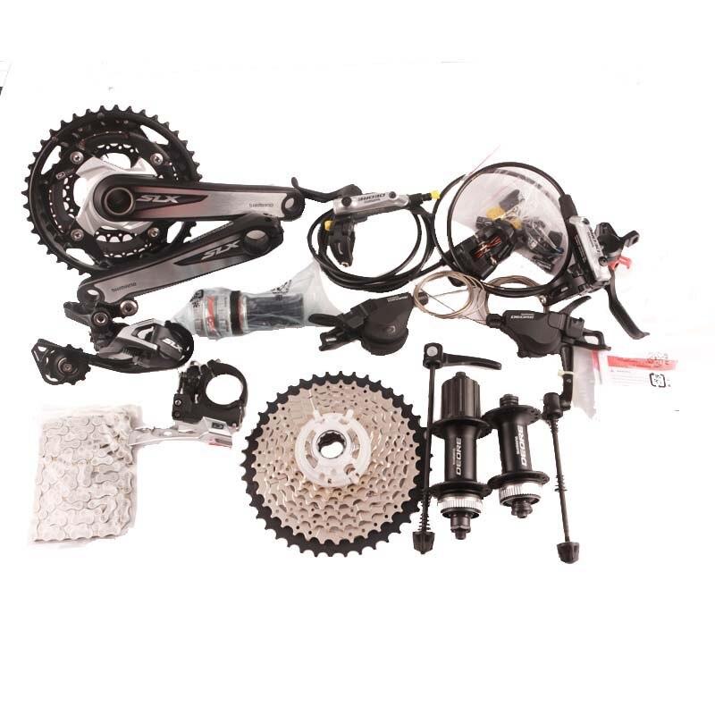 Shimano Deore M610 M670 170 milímetros 3x10 2x10 kit velocidade da bicicleta da bicicleta MTB Conjunto Grupo Groupset + I-Spec-B shifter + freio + M615 M615 hub