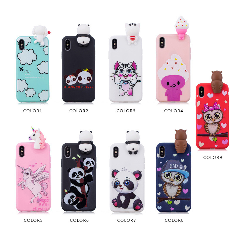 ProElite 3D Cartoon Cute Case For Samsung Galaxy S7 Cat Unicorn Panda Owl Capa Soft Silicon Back Cover for Samsung S7 Edge