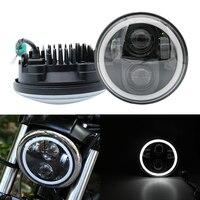 Headlight 5.75 Inch Motorcycle Projector Daymaker Led Halo Headlight For Harley Honda VTX 1300 1800