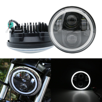 Headlight 5.75 Inch Motorcycle Projector moto Led Halo Headlight For Honda VTX 1300 1800