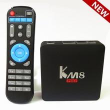 KM8 PRO Amlogic S912 Android 6.0 TV Box Octa Core 2GB 8GB 2.4G/5G WiFi KODI 17.0 IPTV Europe Smart TV Box Media Playe