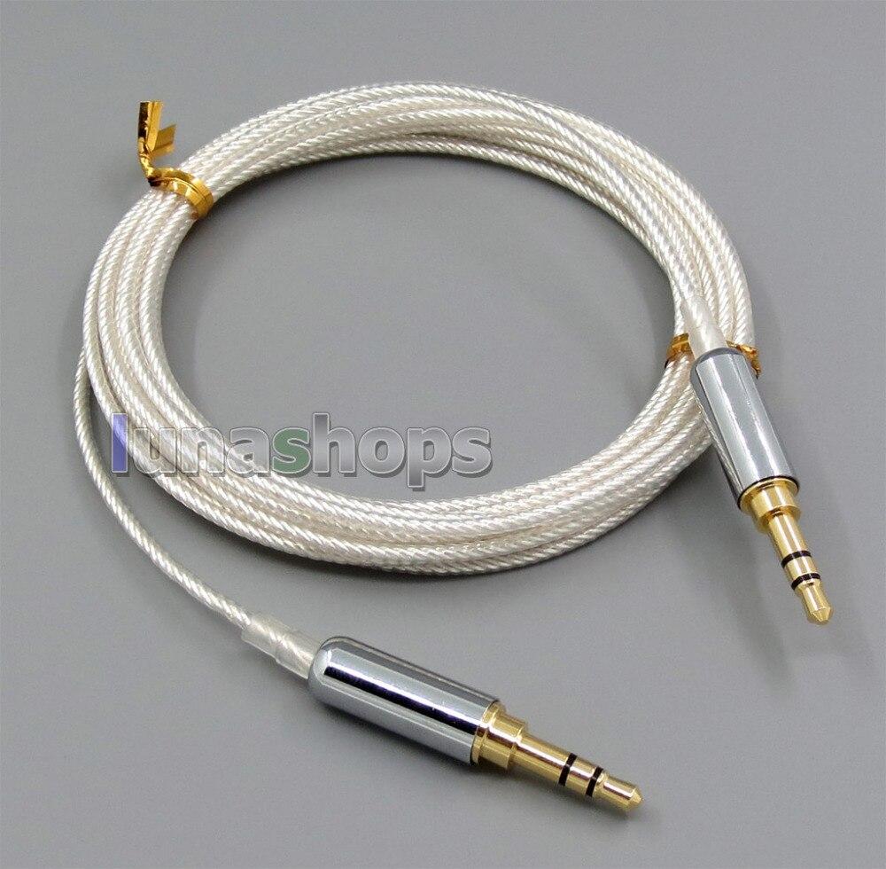 купить 3m Pure Silver Plated 3.5mm Male Headphone cable For Beyerdynamic Custom One Pro Plus He Headphone Car AUX Speaker etc. LN005526 онлайн