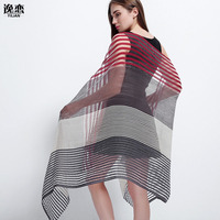2017 Summer Gradient Hit Color Scarf Fashion Sunscreen Two Color Scarf Scarf Long Paragraph Phi Sun