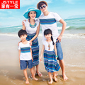 2016 Limited Family Clothing Decoration Of A Family Of Three Summer Short Sleeve T-shirt Bohemia Mother And Daughter Beach Skirt