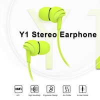 ROCK Y1 Stereo Earphone In Line Control With Mic Headset 3 5mm In Ear Earbuds For