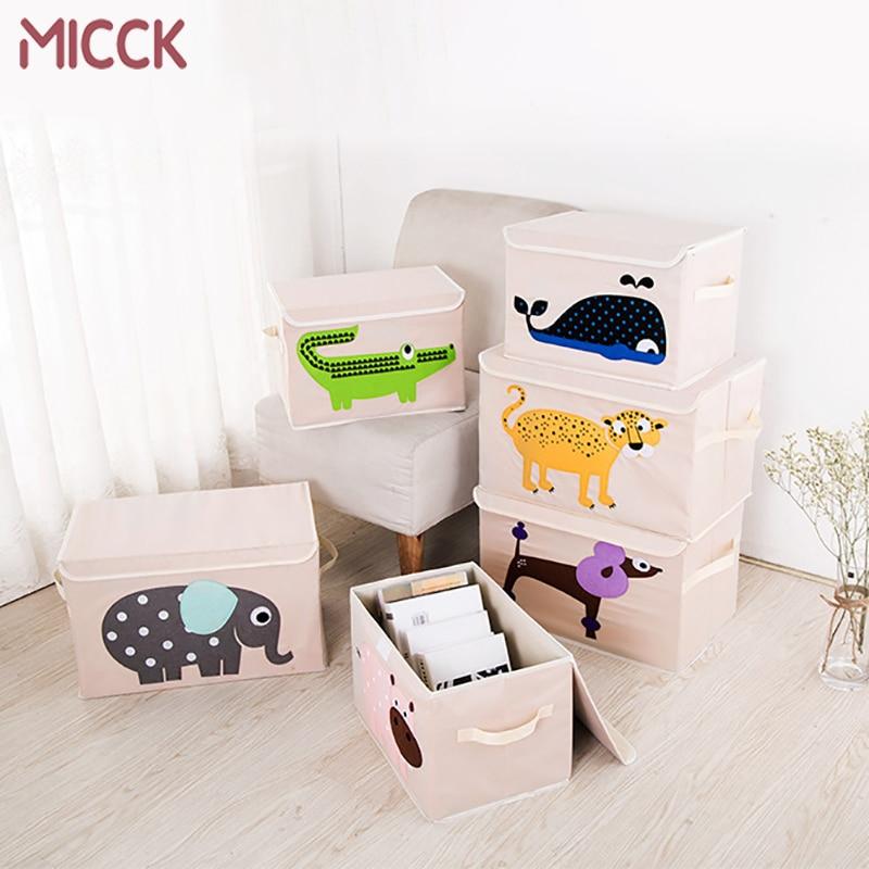Cute Animal Collapsible Toy Storage Organizer Folding: MICCK Cartoon Folding Animal Storage Box Children Toys