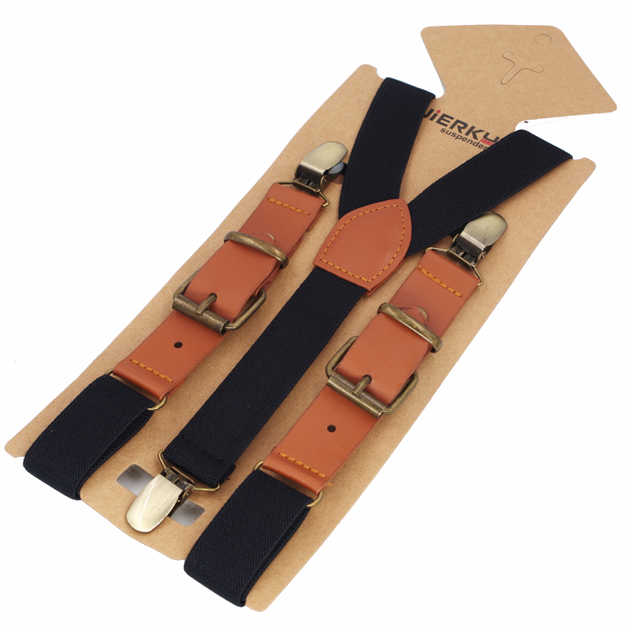 Baby Suspenders Kids Braces Strong 3 Clips Boy PU Suspenders Trousers Suspensorio Elastic Strap Size 2.5*75cm