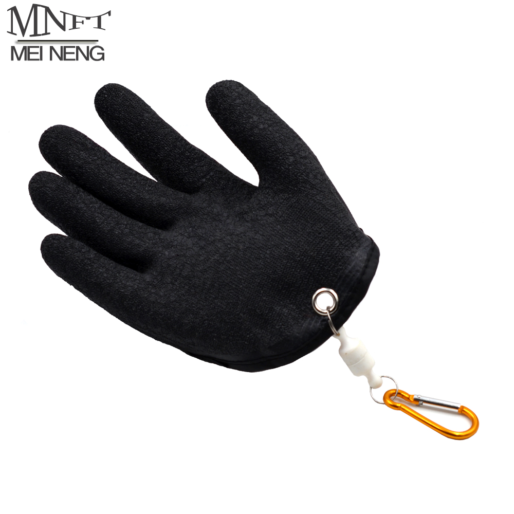 MNFT 1Pcs Fishing Catching Gloves Protect Hand From Puncture Scrapes Fisherman Professional Catch Fish And With Magnet Release