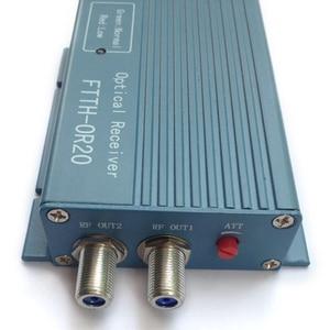 Image 4 - Aluminium CATV FTTH AGC Micro SC UPC Duplex Stecker mit 2 ausgang port WDM für PON FTTH OR20 CATV Faser optische Empfänger