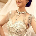 Jewelry Colares Femininos  Hot Selling Luxious Bridal Shoulder Chain Necklace Bride Wedding Dress Party Accessories