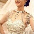 Luxious joyería Colares Femininos Venta Caliente la Cadena Del Hombro Nupcial Collar de Novia de la Boda Accesorios de Fiesta Vestido