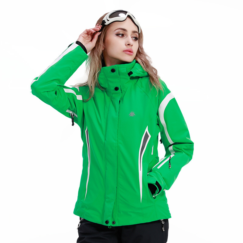 ROYALWAY Women Skiing Ski Jacket Waterproof Windproof Adjustable Hooded Snowboard Jacket Recco GPS Security Warm Coat#RFSL4517G ...