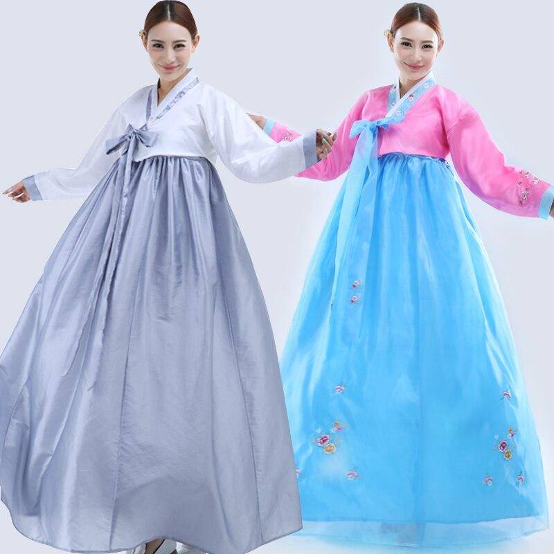 2018 nouveau japonais Yukata Haori femme coréenne danse Costume minorité corée Performance Costumes Hanbok traditionnel robe de cour