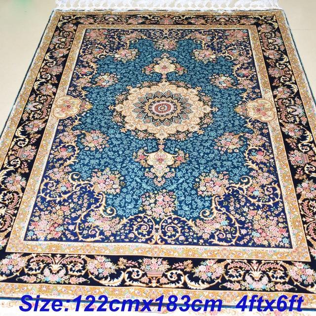 mingxin alfombra 4x6 pies mano tabriz anudadas a mano