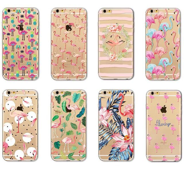 For iPhone XS Max XR X 8 7 6 6S Plus Cover Hot Pink Flamingo Bird Clear  Soft TPU Case 90498896c20a