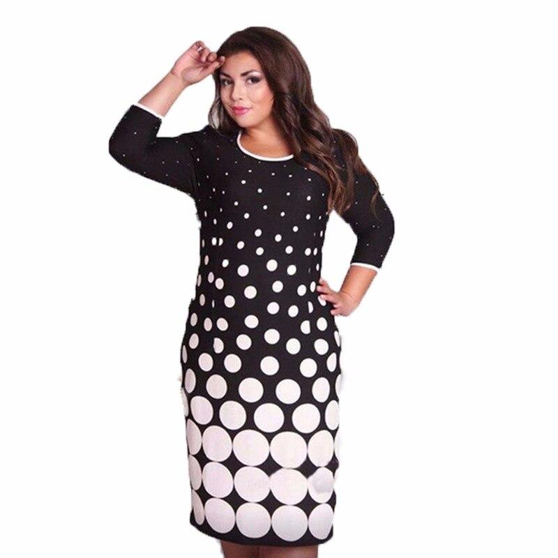 368965e497 Duży rozmiar modne kobiety sukienki nowy 2019 Plus Size kobiety odzież 6xl  sukienka jesienna Casual O