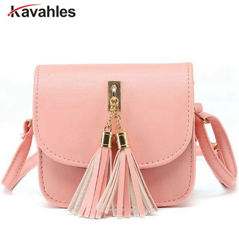 купить Fashion 2018 Small Chains Bag Women Candy Color Tassel Messenger Bags Female Handbag Shoulder Bag Women Bag  F40-845 недорого