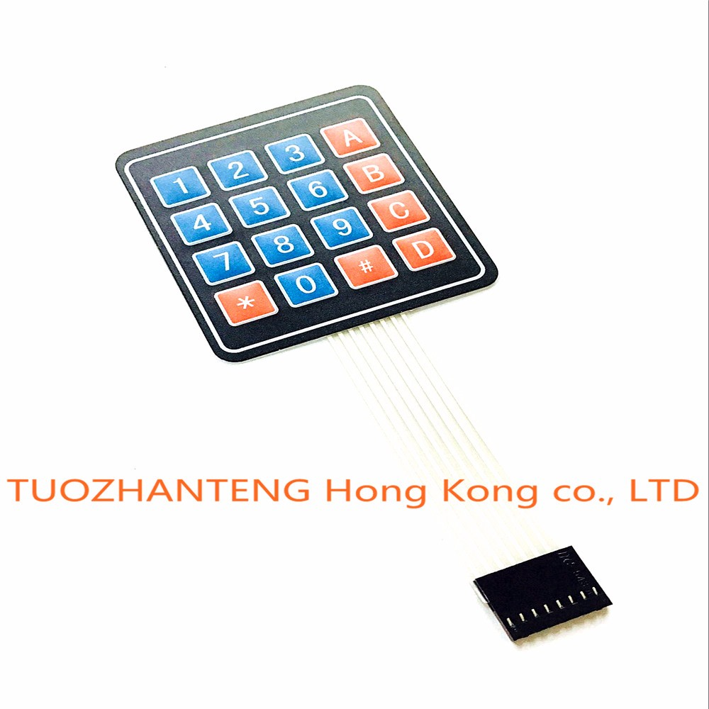 5pcs 16 Key 4 x 4 Membrane Switch Keypad 4×4 4*4 Matrix Array Matrix keyboard for arduino smart car