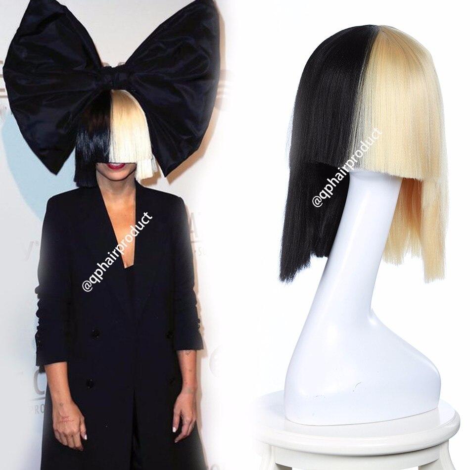 Aliexpress Com Buy Blonde Sia Wig Thick Blunt Bob Wig