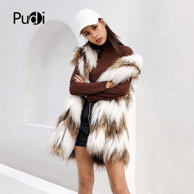 Tricot Tricoté D'hiver Véritable De Fourrure Femmes Mode Chaud Y181010 Réel Manteau Ourwear Laveur Raton Veste 1TcJlFK3