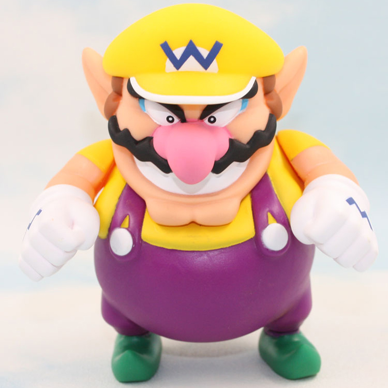 12cm Nintendo Super Mario Wario Figure PVC Action Figures Toys Doll Collection Model Toy for Kids Children Christmas Gift super mario bros action pvc figure toys 2 options 9pcs set 12cm height for xmas gift