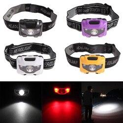 170 grad Drehen Hohe helligkeit 4 Modus Ultra-licht Wasserdicht LED Scheinwerfer Taschenlampe Kopf Lampe Taschenlampe Licht -- M25
