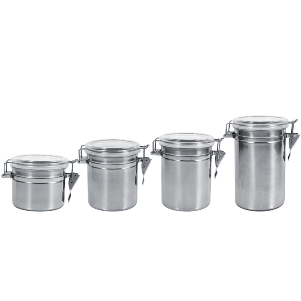 Stainless steel storage containers for kitchen -  Aliexpress 4 Sizes Stainless Steel Storage Container Bottle Sugar Tea Coffee Beans Canister For Kitchen Container