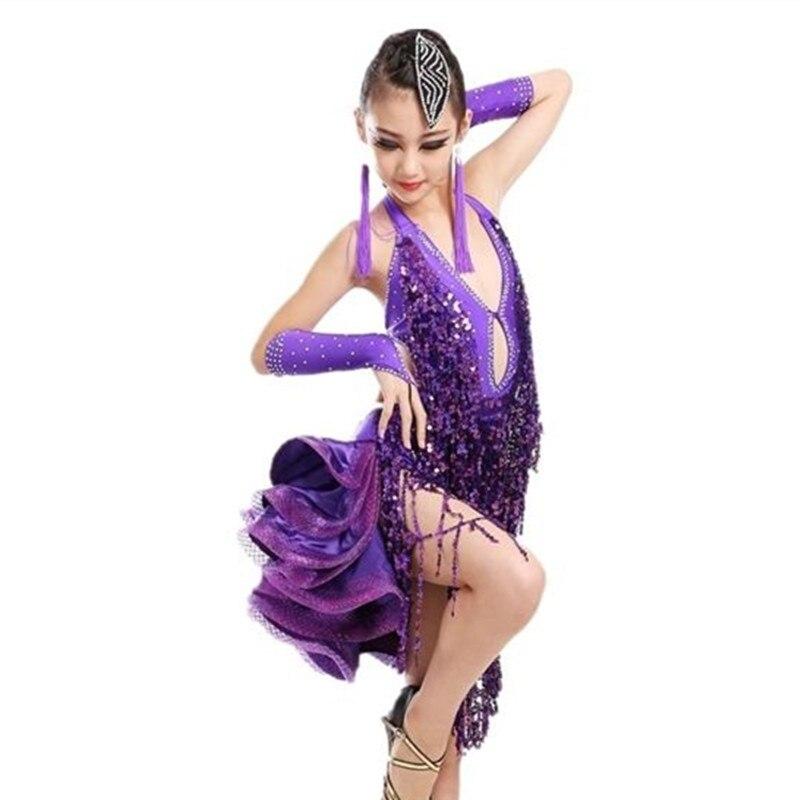 Vestido Latino para Niñas Ropa de baile trajes de baile para niños ...