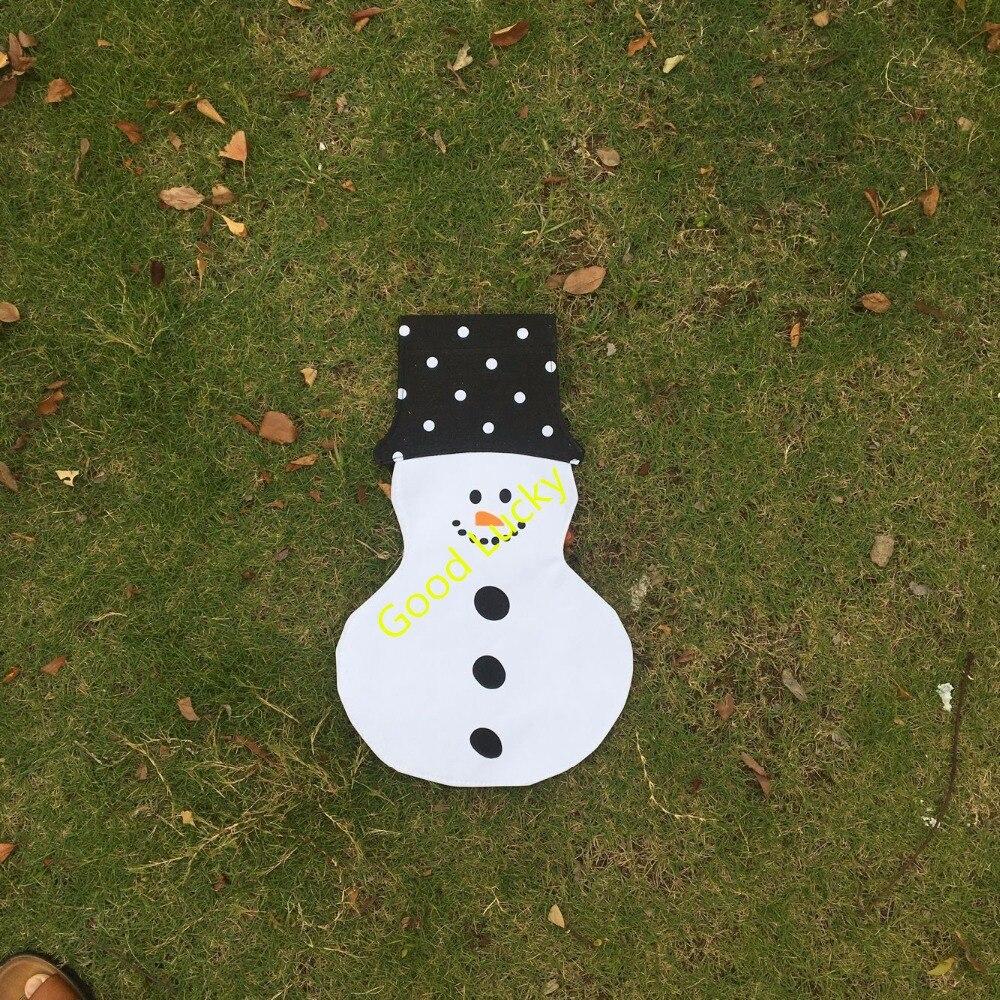 20pcs/lot free shipping monogram Christmas snowman garden ...