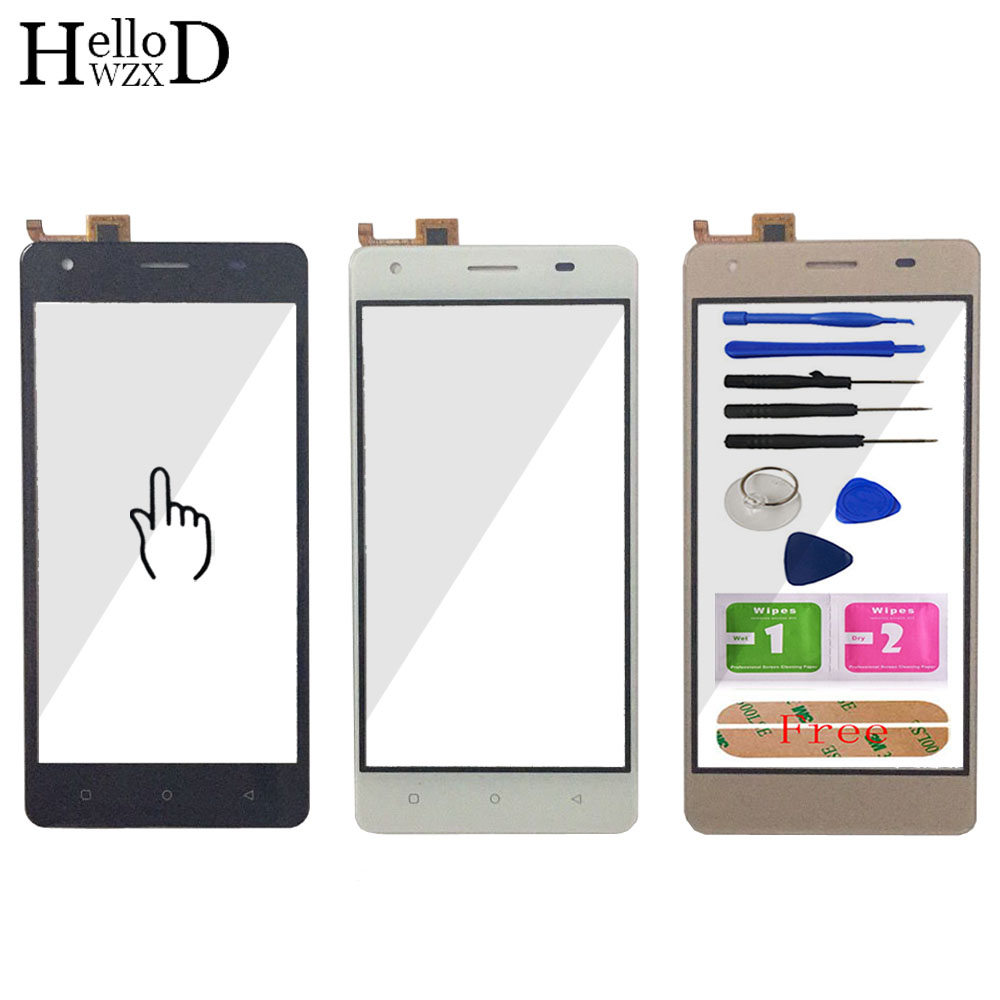 Touch Screen For Vertex Impress Max Touch Screen Front Glass Digitizer Panel Sensor TouchScreen 5'' Mobile Phone Tools Adhesive