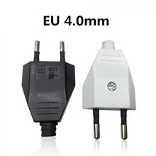 European EU Rewireable Power Plug White Color,1 pcs