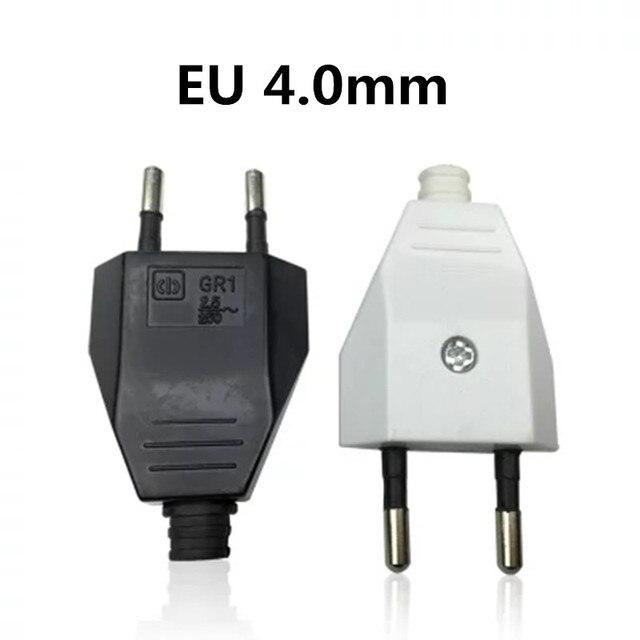 European EU Rewireable Power Plug White Color,1 pcs