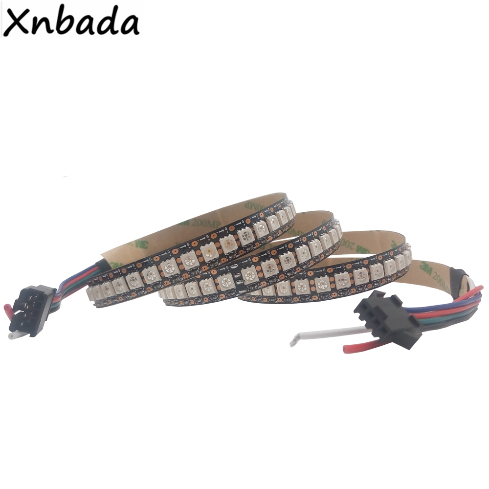 1m/2m/3m/4m/5m GS8208 8208 5050SMD RGB Led Strip Addressable IC,Black/White PCB 30/60/144 Pixels/Leds/m IP30/IP65/IP67 DC12V