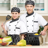 White Chef S Short Sleeved Summer Wear Shirt Hotel Chef Suit Fast Food Restaurant Chef Clothes