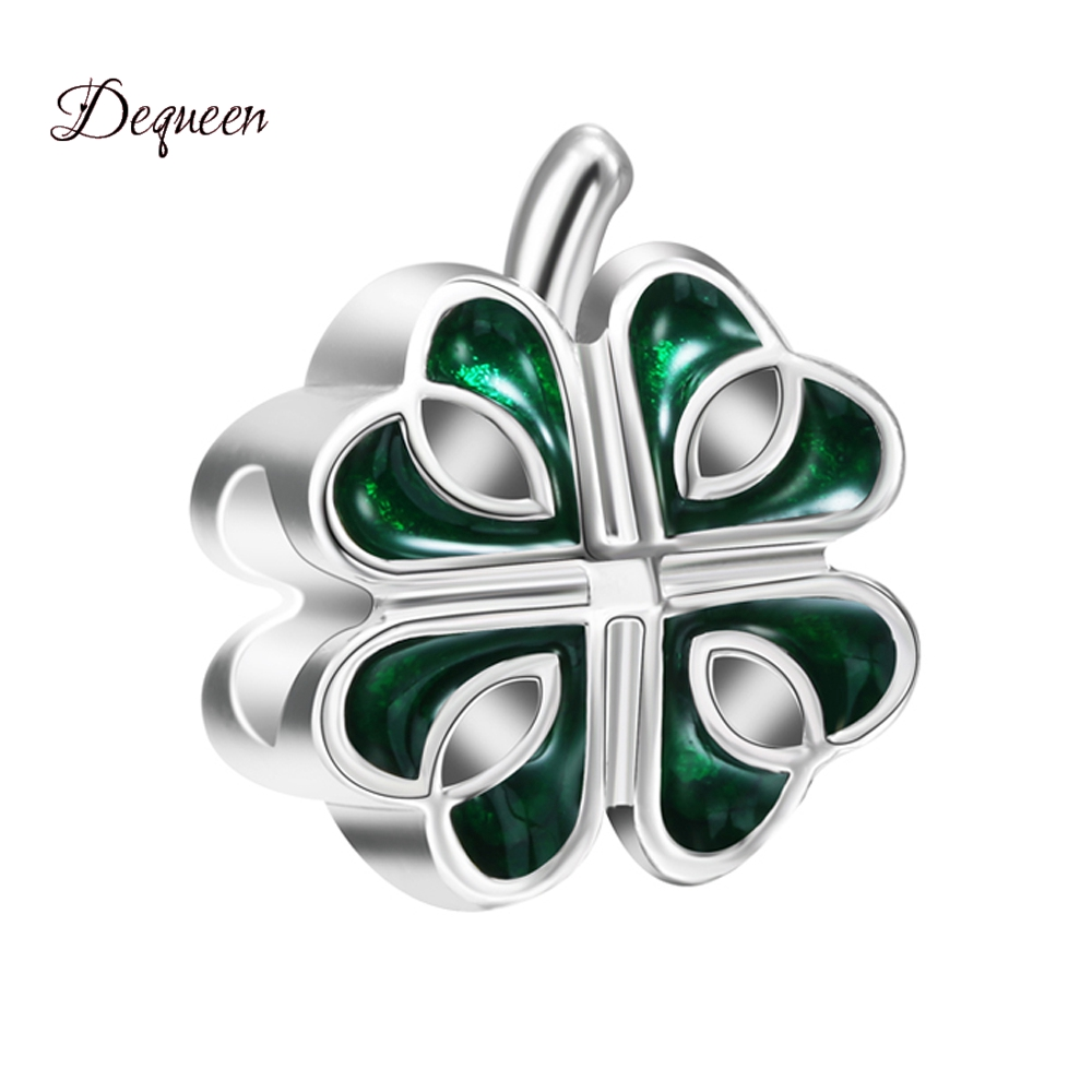 NEW Love Series Perles Silver Plated Large Hole Lucky Leaf Charms Beads Fits DIY Pulsera Bracelets Berloque Wholesale Beads