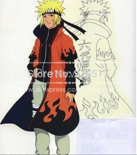 New Naruto Anime Uzumaki Naruto 6th Hokage Cosplay Clothes