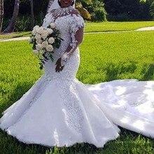 WDPL Retro Style Sheer Wedding Dresses Full Sleeves