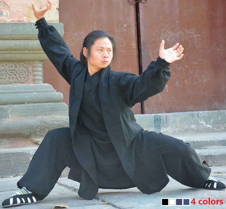 Wudang Taoist tai chi clothing shaolin buddhism kung fu exercises training monk suit Martial arts clothes