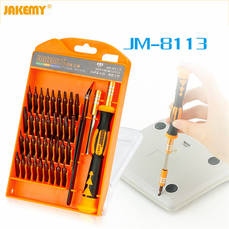 JAKEMY JM-8113 Precision Screwdriver Set Hand tools 39 in 1 Screw Disassemble hardware screwdrivers repair tool for Laptop phone 2017 hot sale new arrival magnetize for screwdriver plus porcelain degaussing minus disassemble charge sheet hand tool parts