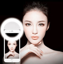 Selfie Ring Light LED Flash Light Portable For Phone Camera Photography Luminous Enhancing For iPhone Huawei Xiaomi Sony