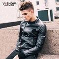 VIISHOW PU chaquetas de cuero Hombre Moda Motocicleta abrigos de cuero delgado Nuevos Hombres ropa Punk chaqueta de LA PU Hombres de la Chaqueta de Invierno ropa de Abrigo